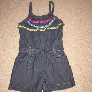Gymboree denim short romper 6/7